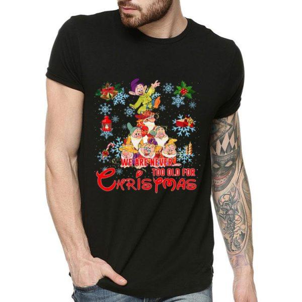 Grumpy Christmas Tree We Are Never Too Old For Christmas shirt