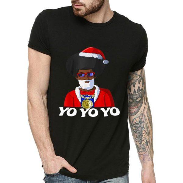 Hip Hop Santa Claus Gangster Yo Yo Yo Christmas shirt