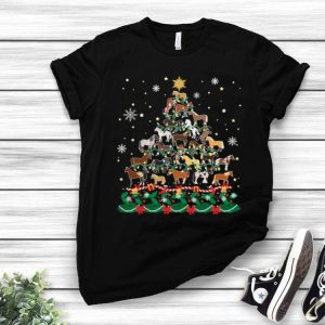 Horse Christmas Tree Horse Lover shirt