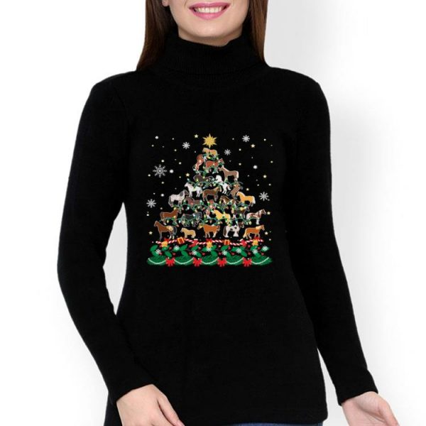 Horse Christmas Tree Horse Lover shirt