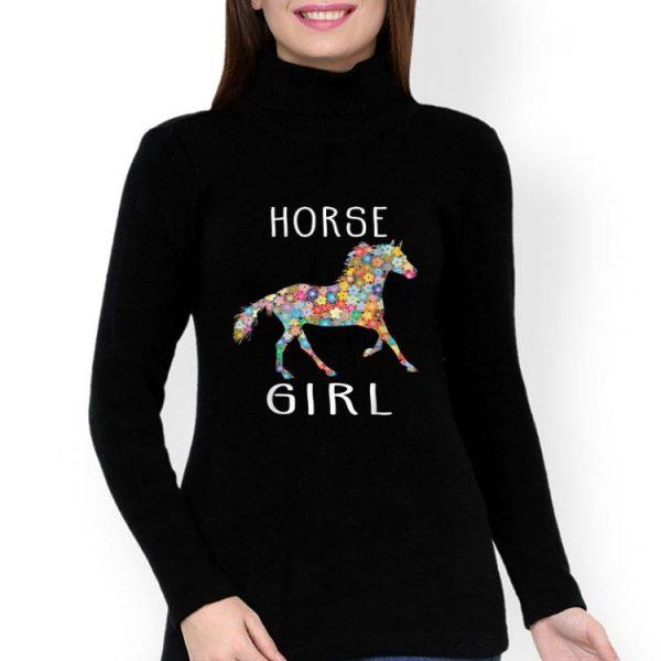 Horse Girl Horse Riding Flower Horses Lovers shirt