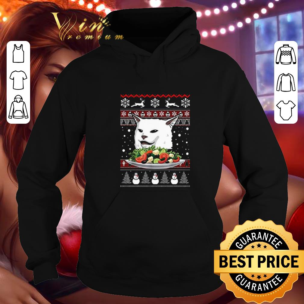 Hot Angry Women Yelling at Confused Cat at Dinner Table Meme Ugly Christmas shirt 4 - Hot Angry Women Yelling at Confused Cat at Dinner Table Meme Ugly Christmas shirt