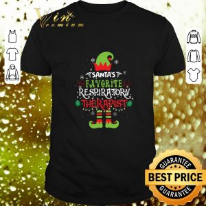 Hot Elf Christmas santa's favorite respiratory therapist shirt