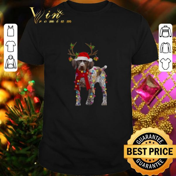 Hot German Shorthaired Pointer reindeer Christmas shirt