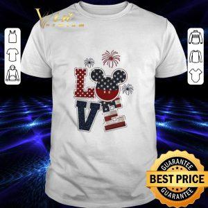 Hot Love Mickey 4th of July American flag shirt