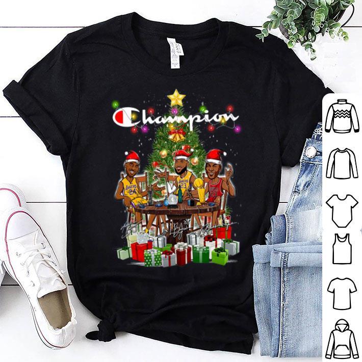 Lebron James Kobe Bryant Michael Jordan Champion Christmas Tree shirt