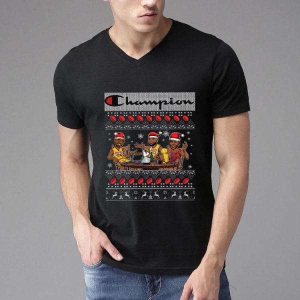 Lebron James Kobe Bryant Michael Jordan Champion Ugly Christmas shirt