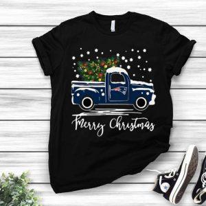 New England Patriots Truck Merry Christmas shirt