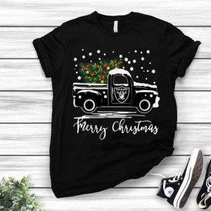Oakland Raiders Truck Merry Christmas shirt