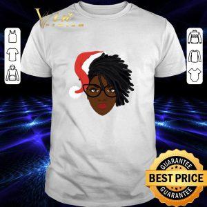 Original Black Women Locs Dreadlock Santa Hat Christmas shirt