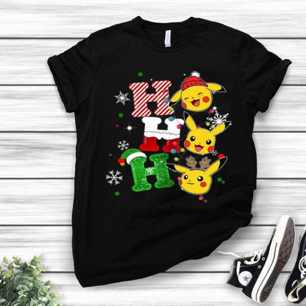 Pikachu Santa Ho Ho Ho Christmas shirt