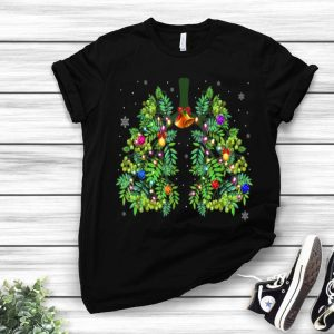 Respiratory Therapy Lung Christmas Tree Merry X-mas shirt