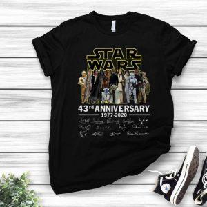 Star Wars 43rd Anniversary 1977-2020 Signatures shirt