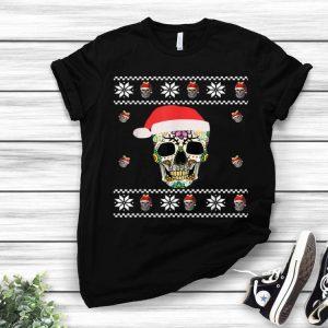 Sugar Skull With Santa Hat Ugly Christmas shirt