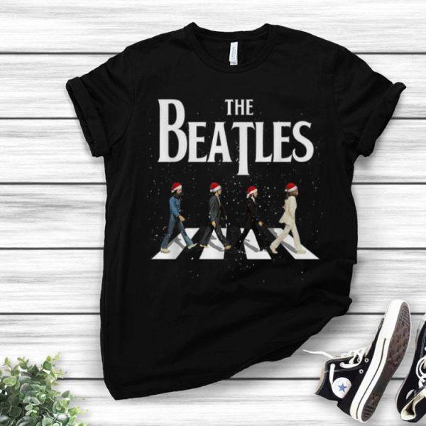 The Beatles Santa Abbey Road Christmas shirt