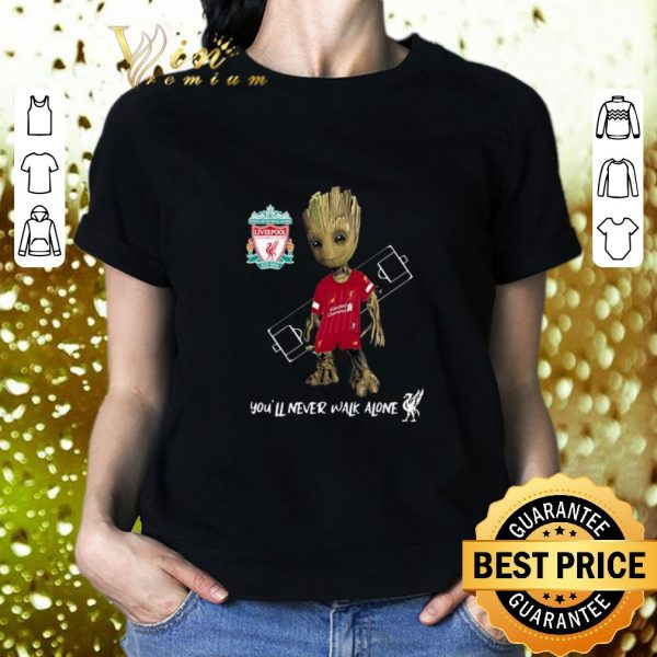 Top Baby Groot Little Liverpool You'll Never Walk Alone shirt