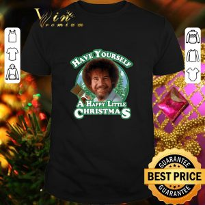 Top Bob Ross Have yourself a happy little Christmas shirt