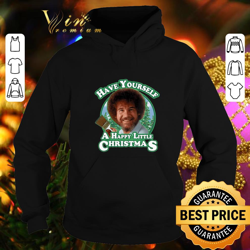 Top Bob Ross Have yourself a happy little Christmas shirt 4 - Top Bob Ross Have yourself a happy little Christmas shirt