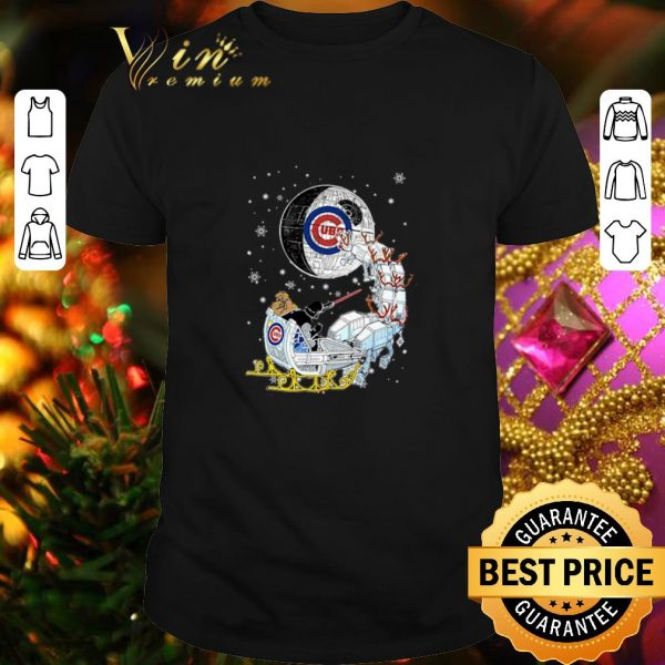 Top Darth Vader Chicago cubs riding sleigh to the Death Star shirt