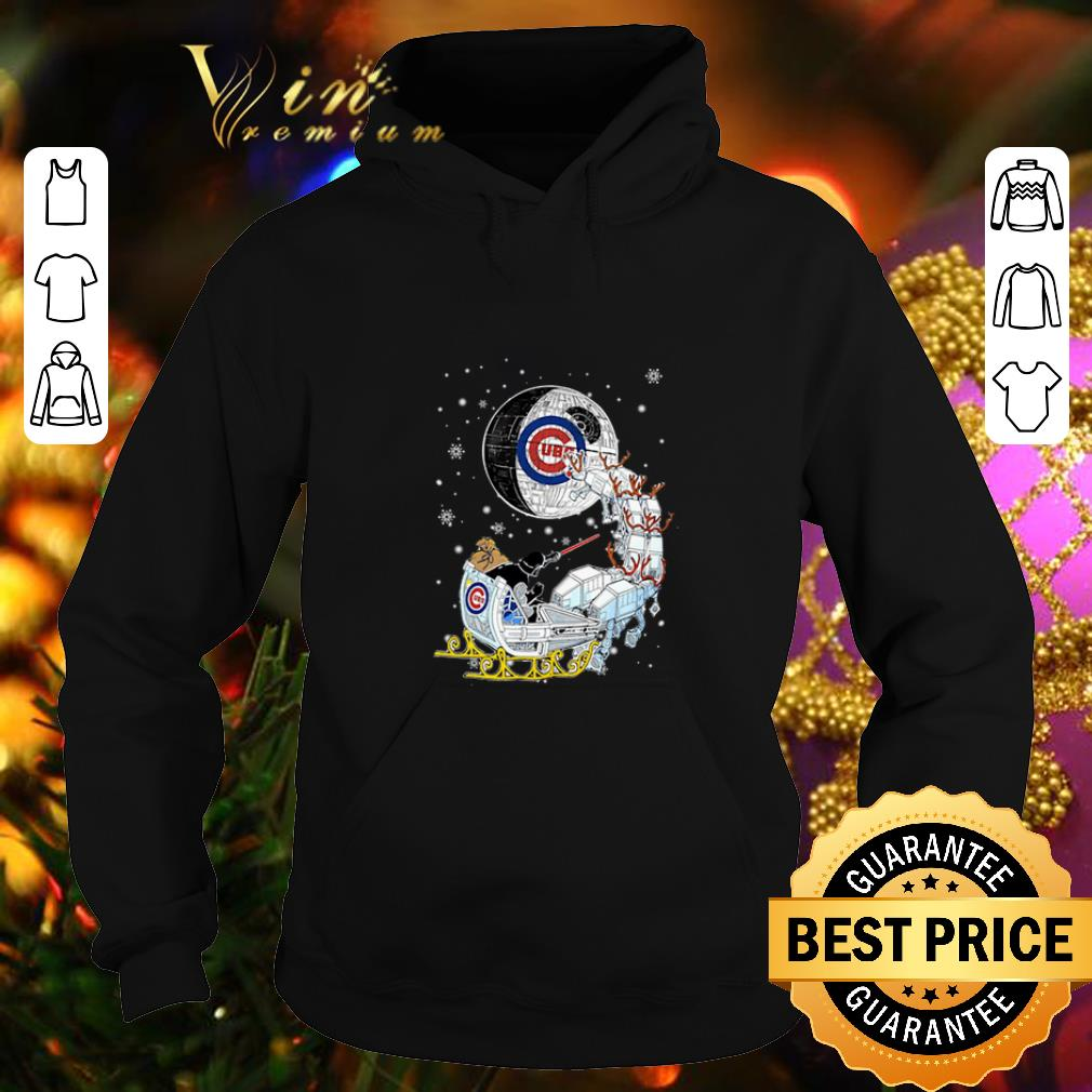 Top Darth Vader Chicago cubs riding sleigh to the Death Star shirt 4 - Top Darth Vader Chicago cubs riding sleigh to the Death Star shirt