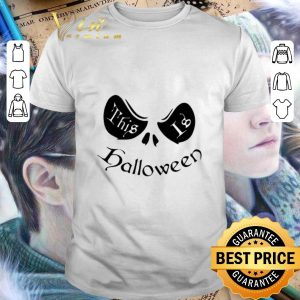 Top Jack Skellington face this is halloween shirt