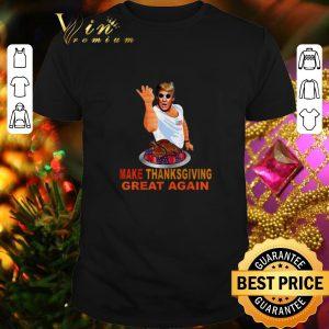 Top Make Thanksgiving Great Again Trump Mashup Salt Bae Turkey shirt