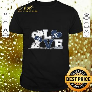 Top Snoopy love New York Yankees shirt