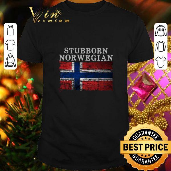 Top Stubborn Norwegian Flag of Norway shirt