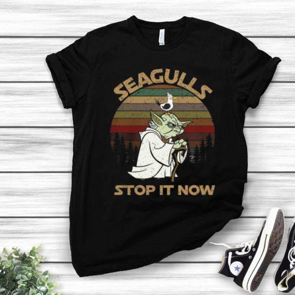 Vintage Yoda Seagulls Stop It Now shirt