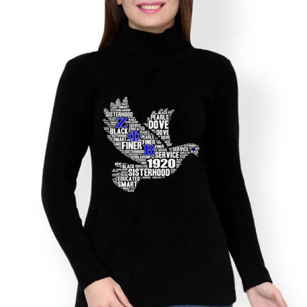 Zeta 1920 African Educated Dove Words ZOB shirt