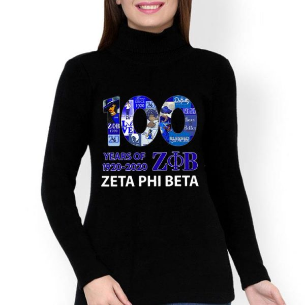 100 Years Of Zeta Phi Beta 1920-2020 shirt