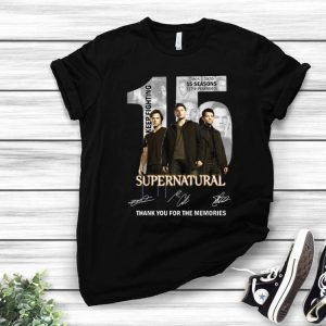 15 Years Of Supernatural 2005 2020 15 Seasons 237 Episodes Signatures shirt
