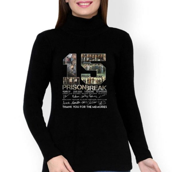 15th Years Of Prison Break Signatures Thank You For The Memories shirt