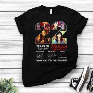 22 Years Of Mulan Signatures Thank You For The Memories shirt