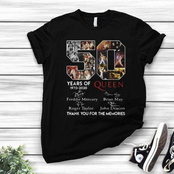 50 Years Of Queen Thank You For The Memories Signatures shirt