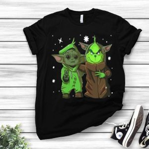 Baby Yoda And Baby Grinch Merry Christmas shirt