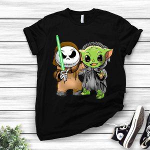 Baby Yoda And Baby Jack Skellington shirt
