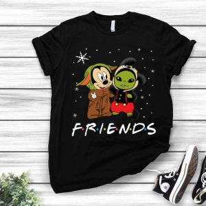 Baby Yoda And Mickey Mouse Friends Merry Christmas shirt