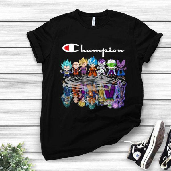Champion Dragon Ball Z Chibi Character Water Reflection Mirror shirt