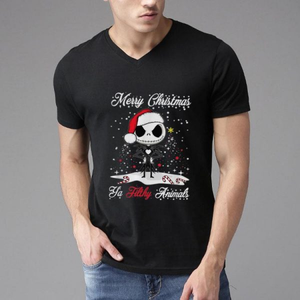 Christmas Jack Skellington Merry Christmas Ya Filthy Animals shirt