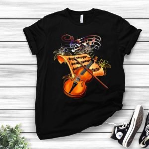 Gold Flower Violin Musically Music Lovers shirt
