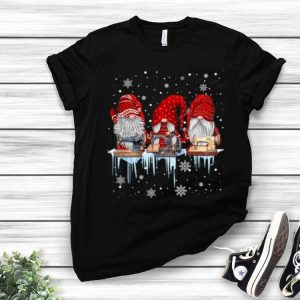 Hanging With Red Gnomies Sewing Machine Gnome Christmas shirt