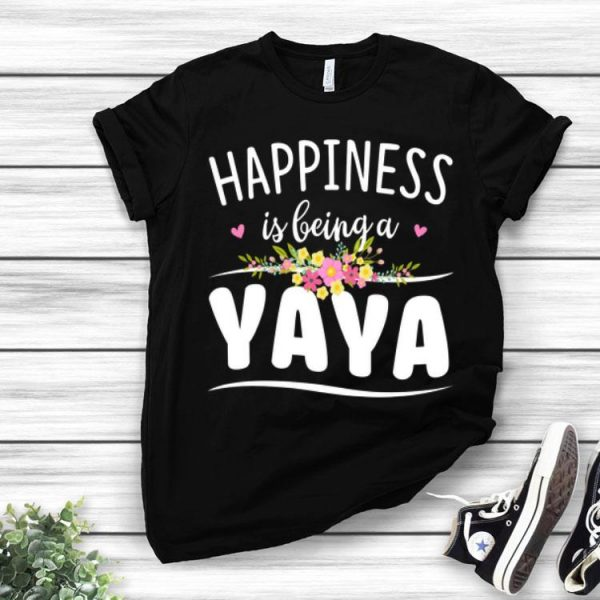 Happiness Is Being A Yaya Floral shirt