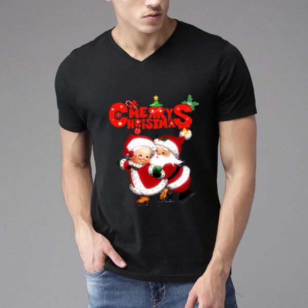 Happy Christmas Lovely Mrs Claus And Mr Claus shirt