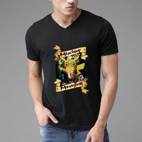 Harry Pika - Harry Potter And Pikachu Mischief Managed shirt