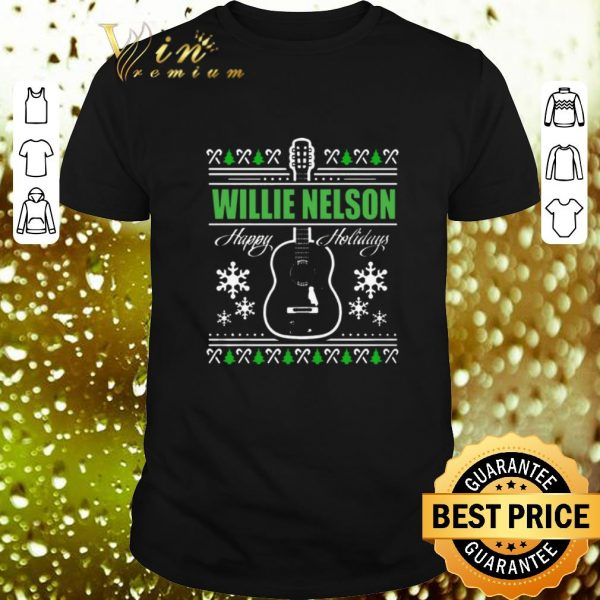 Hot Willie Nelson Guitar ugly Christmas sweater