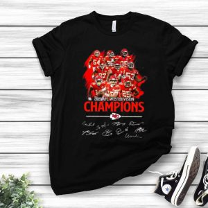 Kansas City Chiefs 2019 Afc West Division Champions Signatures shirt