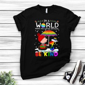 LGBT Charlie Brown And Snoopy Be Kind shirt