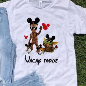 Mickey Mouse Baby Yoda And Baby Groot Vacay Mode shirt