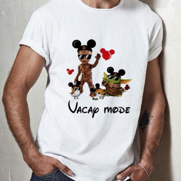 Mickey Mouse Baby Yoda And Baby Groot Vacay Mode shirt